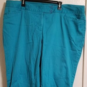 Lane Bryant Capris Teal Blue